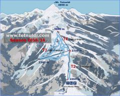 Tetnuldi Ski Area and Piste Map