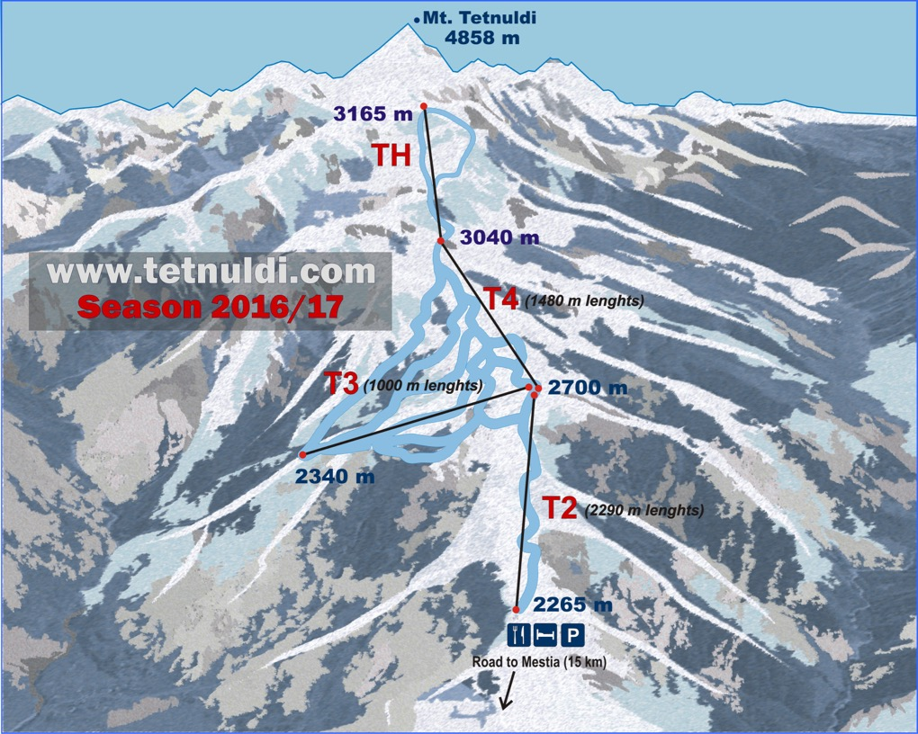 Ski Map of Tetnuldi Ski Resort